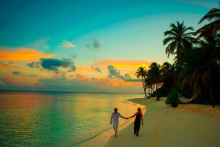 Romantic couple, Romantic places