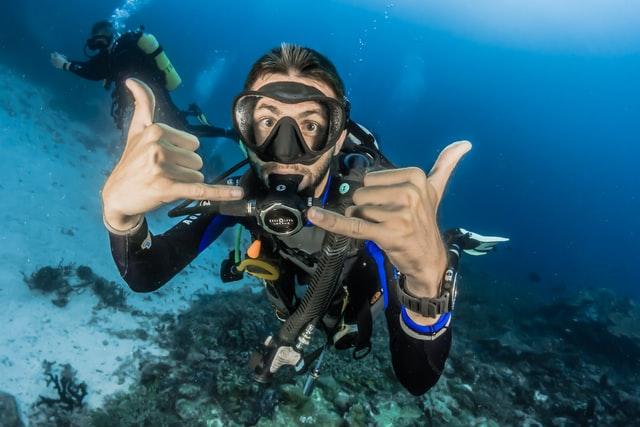 Scuba diver in Maldives
