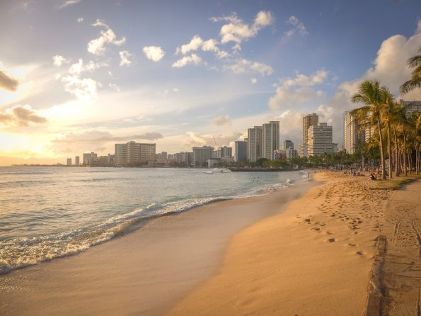 Honolulu panorama beach Hawaii