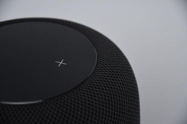 Black portable smart speaker